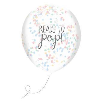 Klar til at Pop konfetti balloner x 5 Baby brusebad