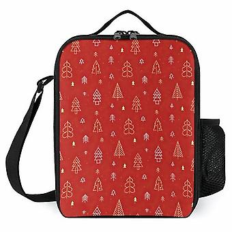 Christmas Tree Pattern Printed Lunch Bags