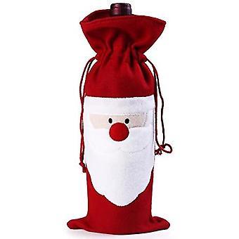 2 dekorpåsar för Santa Claus vinflaskor