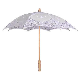 أزياء الدانتيل الشمس مظلة المظلات التطريز العروس العاج الزواج الزفاف