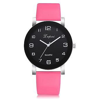 Women Quartz Watch, Leather Band Women Bracelet Watches Crystal Clock