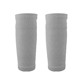 Adultes Taille polyester spandex Soccer Shin Pads Holder Instep Foot Socks Guard
