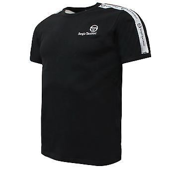 Sergio Tacchini Mens Dalhoa T-Shirt Casual Lounge Top Black 38357 166