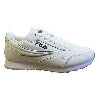 Fila مدار منخفض مدربي النساء الأبيض الدانتيل حتى الأحذية عارضة 1010308 1FG
