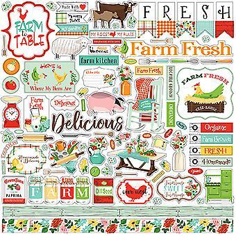 Carta Bella Farm To Table 12x12 Inch Element Sticker