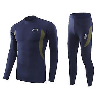 Winter Men's Tactical Fleece Thermal Underwear, Sweat Quick Drying Breathable