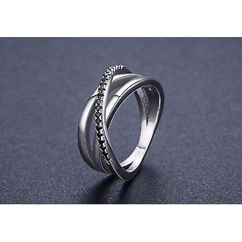 الاسترليني الفضة غرامة المجوهرات صف الخطوبة، خواتم الزفاف Spinel