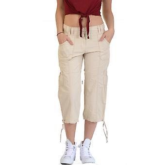 Long Lightweight Cargo Shorts - Beige
