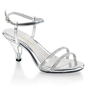 Fabulicious Women's Shoes BELLE-316 Slv Metallic Pu/Clr