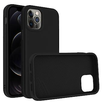 Back Cover For Apple iPhone 12 Pro Max Flexible Shockproof Rhinoshield black