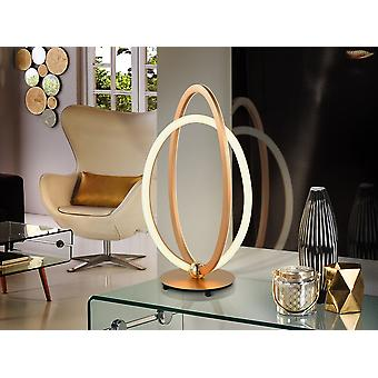 Integrated LED Table Lamp, Rose Gold