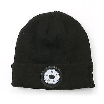 Bluetooth Mütze Hut mit LED-Licht, eingebautes Mikrofon, Musik, Anruf, für Outdoor-Sport, Unisex