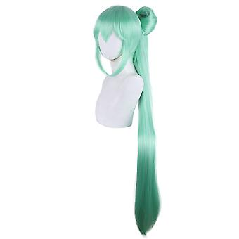 Anime Wigs With Bow Hatsune Miku Ponytail Hair Cap