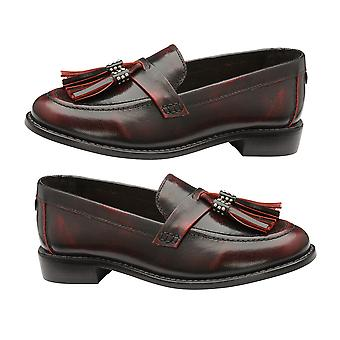 Ravel Bordo Levin Patent Leather Low Heel Loafers for Women and Girls