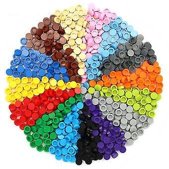 Строительные блоки круглая плитка совместима с образовательными кирпичами, рисунок Creative