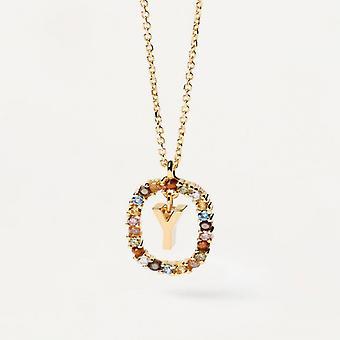 Halsband Kvinna P D Paola CO01-284-U - Plaqu guld Dor