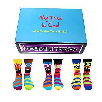 Cool Dad Gift Set - Oddsocks assortis pour hommes - Funk You Socks