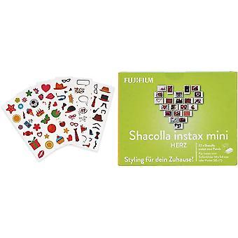 Instax Fun-Sticker bunt + Shacolla Herz für instax Mini
