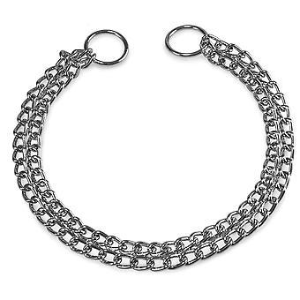 Arquivet dobbelt kæde Strangler 45Cm (hunde, kraver, fører og seler, halsbånd)