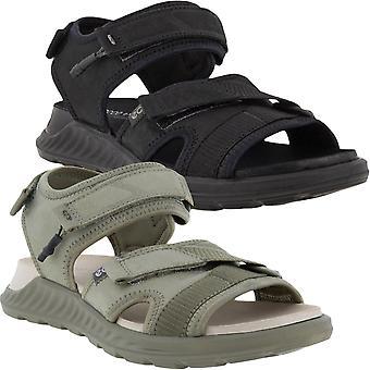 ECCO Womens Exowrap Adjustable Leather Summer Outdoor Thongs Flip Flops Sandals