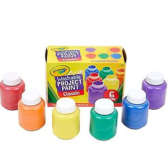 Washable Kids Paint 6 Count, Kids At Home Activities, Painting Supplies