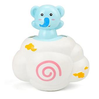 De badende speelgoedsproeiers van de baby