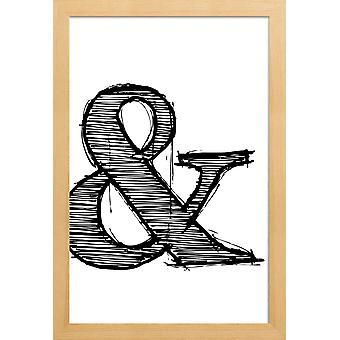 Juniqe Print - Ampersand Poster 1 - Cartel de símbolos en blanco y negro