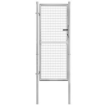 vidaXL Tuinpoort Gegalvaniseerd Staal 105x250 cm Zilver