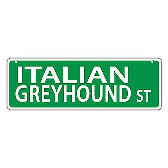 "שלט רחוב, פלסטיק, רחוב גרייהאונד איטלקי, 17"" X 6"""