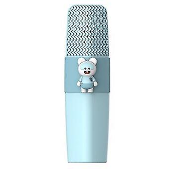 Fare mavisi k9 kablosuz bluetooth mikrofon ktv şarkı çocuk çizgi film mikrofon az8565