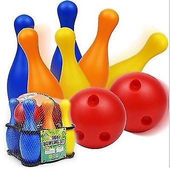 L 22*7.5 الأطفال البولينج البلاستيك لعب رياض الأطفال الترفيه الرياضي الترفيه 19/22cm البولينج مجموعة az22015