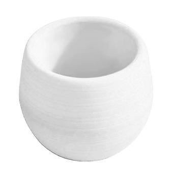 Mała doniczka z tworzywa sztucznego - biała