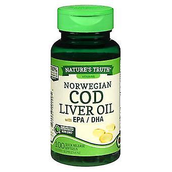 Nature's Truth Norwegian Cod Liver Oil, 100 Caps