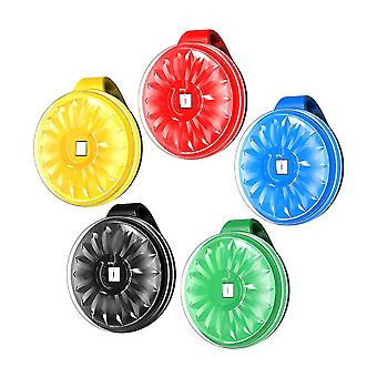 5 stk utendørs mini ledet lys sikkerhetslys multifuntional klipp på strobe tpu kjørelys for natt løpere sykler går (5 farger)