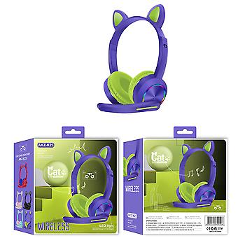 Cute Cat Ear Bluetooth Wireless Headsets With Mic,Noise Cancelling For Children, Kids