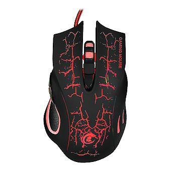 Six Button Colorful Luminous Gaming Mouse