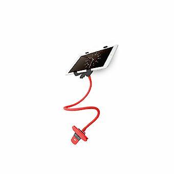 Porta tablet a morsetto Aquarius a 360 gradi per dispositivi intelligenti - Rosso