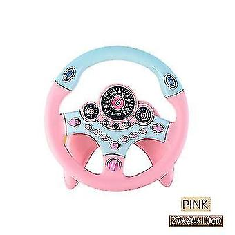 Children's Steering Wheel Toy Simulation Small Steering Wheel Car Toy(Pink)