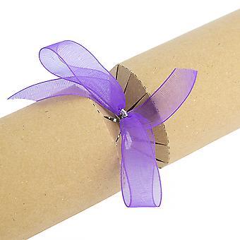 16 Galletas ya hechas - Arcos de regalo - Organza púrpura