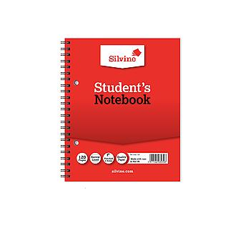 Silvine Twin Wire Notebook (Pack of 12)