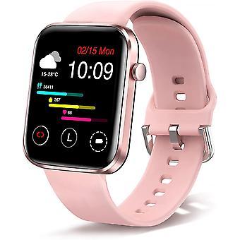 Умные часы, 1,69-дюймовые фитнес-наручные часы для женщин и мужчин, фитнес-трекер IP67 водонепроницаемые спортивные часы, трекер активности со счетчиком шагов, монитор сна, умные часы для Android iOS (Роза)