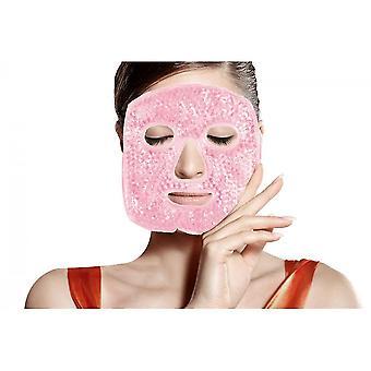 Podgrzewane ciepłe chłodzenie Wielokrotnego użytku żelowa maska lodowa, gorąca zimna terapia na ból twarzy (różowy)