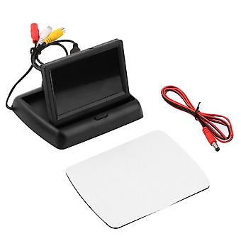 4.3 Inch Lcd Tft Foldable Color Monitor Screen For Car Reverse Rearview Camera