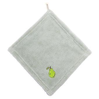 6 חתיכות של מיקרופייבר מגבת קטנה רקמה פירות מגבת קטנה תינוק ייבוש מהיר מגבת מרובעת