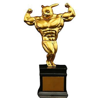 Pokmon Anime Spoof The Golden Man Bronze Man Silver Muscle Large Pikachu