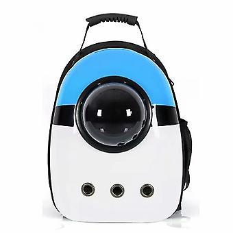 Tricolor Blue Portable Pet Backpack