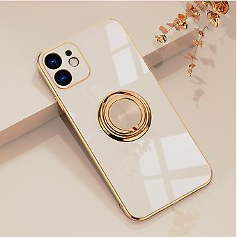 Applicable To Apple Mobile Phone Case Electroplating Ring Protection Cover Car Magnetic