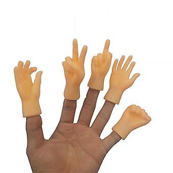 5st Simulering Hand Finger Späng Ångest Relief Leksaker Rolig Fidget Leksak