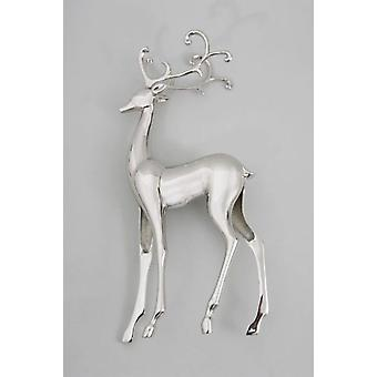 Standing Silver Reindeer Christmas Decorative Ornament Gift Idea