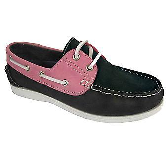 Ladies Seafarer Yachtsman Nubuck Leather Boat Deck Shoes L024/5